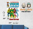 Vision and Scarlet Witch #8 1985 Marvel Comic Cover Wall Poster