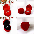 Heart Shape Ring Box Jewellery Storage Case Wedding Party Valentine's Day Gift