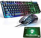 Wired Gaming Keyboard Mouse Combo 12 RGB Backlit Mechanical Feel For PC PS4 Xbox