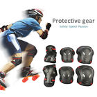 6pc Adult Teen Kid Protective Gear Knee Elbow Wrist Pads Guards Skateboard S M L