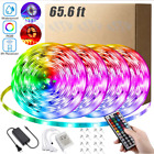 Купить 66FT Flexible 3528 RGB LED Strip Light Remote Fairy Light Room Party Waterproof