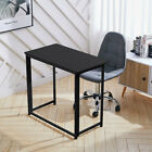 Folding Computer Desk Wooden Metal Foldable Study Coffee Table Laptop Office PC