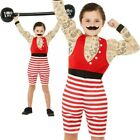 Deluxe Strong Boy Costume Power Lifting Boys Fancy Dress Outfit Age 4-12