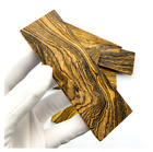 Knife Handle Scales Wood Blank Material Woodwork DIY Yellow Rosewood 120x40x30mm