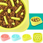 Pet Bowl Dog Cat Interactive Slow Food Feeder Healthy Gulp Feed Dish 3 colours