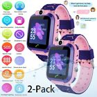 2x Waterproof Kids Smart Watch Anti-lost LBS Tracker SOS Call For Android iOS US