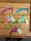 Hanging Metal FAIRY Garden Wall Art Fence Outdoor Decoration Welcome Sign New