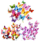 12x 3d Butterfly Wall Sticker Magnet Self Adhesive Bedroom Decal Home Decor Kids