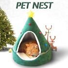 Large Cat Bed Cave Small Wool Cozy Pet Igloo Bed Winter House Nest Kennel UK2020