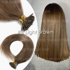 THICK Pre Bonded 18-22'' I Stick Tip Keratin Human Hair Extensions Straight P184