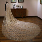 3M Bride White Champagne Cathedral Wedding Veil with Comb Long Chapel Twinkle