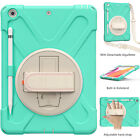 For iPad 5th/6th Gen 9.7 inch Case Hard Stand Tablet Cover with Shoulder Strap