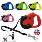Durable Retractable Dog Leads Nylon Lead Extending Puppy Walking Running Leashs@
