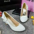 Womens Pointed Heart Wedge Heels Slip On Shoes Party Dress Pumps size