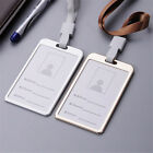 2021 Metal ID Badge Card Holder Business Security Pass Tag Holder w/ Lanyard US