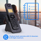 50 Memories Hand-Free Cordless Phone LCD Conference Calls 5 Handset Connect R4U3