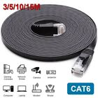 50ft CAT6 Flat Ethernet Cable LAN RJ45 Internet Router Patch Cord For Xbox PS4