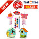 4 Pack DIY Bird House Wind Chime Kits For Children To Build And Paint Heavy Duty photo
