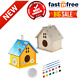 2 Pack DIY Bird House Kit Crafts for Kids Build and Paint for Ages 4-8 Girls Boy photo