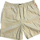 Womens Basic Edition Shorts Pull On Elastic Front Pockets Tan Large XL XXL NEW