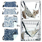 Soft Double Layer Canvas Cat Hammock Cage Pet Sleeping Cozy Bed Swing Comfy