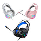 3.5mm Gaming Headsets On Ear Headphones Adjustable Headhand Mic for PC