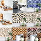 18x Adhesive Mosaic Wall Stickers Decal Tile Home Kitchen Decor