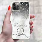 Personalised Marble Phone Case Cover For Apple Samsung Initial Name - Ref Y61