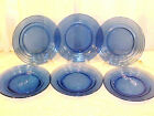 "Set of 6 (8 7 8"") DINNER PLATES in Cobalt Moderntone"