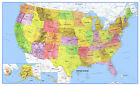 United States Map Poster Classic Premier USA US Wall Poster Decor