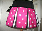 NEW Baby Girl Black,Pink,White Stars,stripes cheerleader Skirt,gift,party,rock