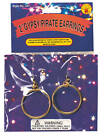 Hoop Earrings Pirate Gypsy Costume Earrings 357