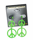 Small Two Hoop Peace Sign Costume Earrings FREE USA SHIPPING 69N
