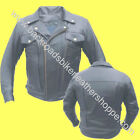 MENS BUFFALO LEATHER MOTORCYCLE JACKET W/PISTOL POCKETS
