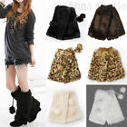 AnnaKastle New Womens Fuzzy Fur Leg Warmer Boots Cover Winter pom poms