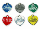 Plastic Acrylic Heart Pet Dog Cat Engraved ID Tag