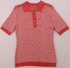 Peck & Peck Sweater Coral White Short Sleeve NWT $78.00