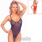Sexy Lingerie Fishnet Bodystocking/Bodysuit Size 10,12,14 Black, Red, White