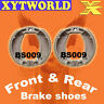 Front Rear Brake Shoes for Yamaha T50 T 50 Townmate 1986