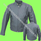 Mens soft Leather Cruiser Motorcycle Biker Jacket Coat Vented Black