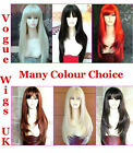 XXX Long Blonde Ladies Wig Red Black Brown Wig Choice