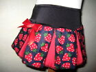 NEW Baby Girls  Black Red,White Strawberry Party Skirt