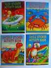 3 STICKER ACTIVITY BOOKS (Party Bags)B{fixed £1 UK p&p}