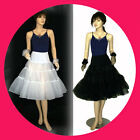 "27""L Hoopless Organza Petticoat /Skirt/ Wedding Evening Prom Party 1950's Dress"