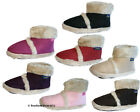 Ladies Coolers Furry Ankle Boot Bootee Slippers Sizes 3 - 8
