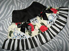 NEW Cool Baby Girls Black White red Skulls Roses Goth Rock Punk Skirt Gift Party