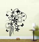 Butterfly & Bluebell Star Flower Vinyl Sticker Wall Art Kitchen Lounge HS WA2