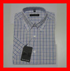 KING SIZE SHORT-SLEEVES BUTTON DOWN CHECK SHIRT 3XL - 18.5 - 47 5XL - 20.5 -52.5