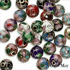 Beautiful Mix of 18 Cloisonne Round Beads ~ Pick your size 6,8,10,12mm