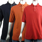 Mens Timberland Mod Retro Polo Shirt Top Cotton Red Rust Black Sport Smart Party
